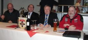 Alter und neuer Vorstand v.l.n.r Schatzmeister Franz Olbricht, Verbindungsstellenleiter Michael Reichenbach, 1. Sekretär Hansjörg Herrmann und 2. Sekretär Christian Baier!